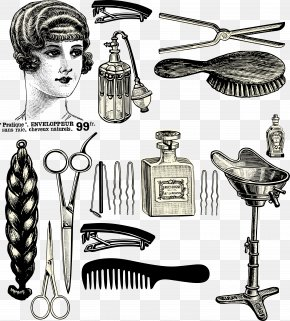 Retro Haircut Material - Hairdresser Beauty Parlour Hairstyle Barber PNG