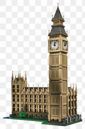 Big Ben File - Big Ben Palace Of Westminster Houses Of Parliament Shop Lego Creator PNG