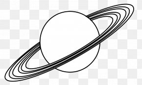 Uranus Cartoon Cliparts - Earth Planet Saturn Black And White Clip Art PNG