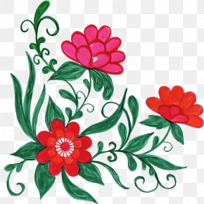 Chinese Peony Floral Design - Floral Design PNG