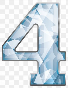 Crystal Number Four Clipart Image - Number Clip Art PNG