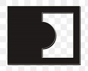 Symbol Rectangle - Background Black Frame PNG