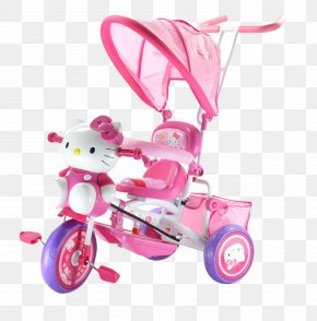 Hello Kitty Stroller - Hello Kitty Car Bicycle Child Tricycle PNG