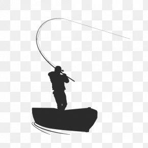 Fishing Pole - Fishing Silhouette Fisherman PNG