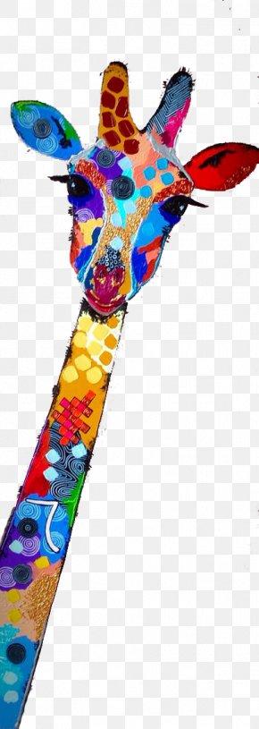 Watercolor Giraffe - Northern Giraffe Watercolor Painting Illustration PNG