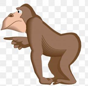 Gramophone - Gorilla Primate Monkey Animal Clip Art PNG