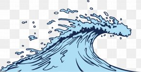 Blue Sea Waves Vector Material - Wind Wave Clip Art PNG