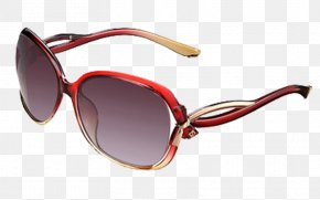 Big Red Sunglasses Twist - Goggles Sunglasses Red Polarized Light PNG