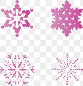 Creative Pink Snowflake - Snowflake Euclidean Vector PNG