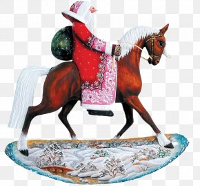 Rider - Ded Moroz Horse Toy Equestrianism New Year PNG