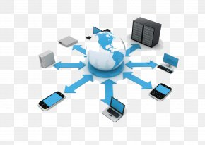 Information Technology - Cloud Computing Computer Network Web Service Computer Servers Network Service PNG