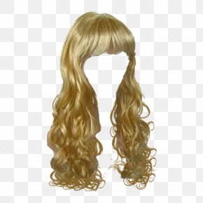 Curly Hair Wig - Hair Clipper Hairstyle Wig PNG