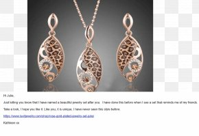 Jewellery - Earring Charms & Pendants Jewellery Necklace Gold PNG