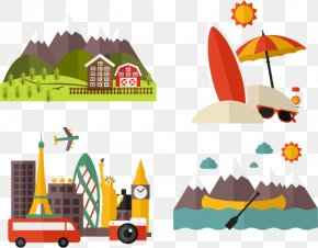 Vacation Illustrator Vector Material - Vacation Icon PNG