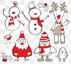 Christmas Snowman - Santa Claus Reindeer Christmas Clip Art PNG