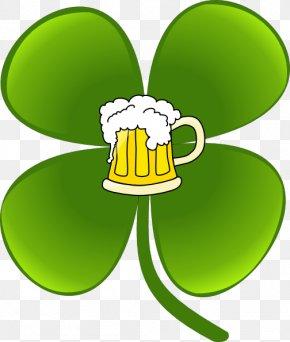 Saint Patrick's Day - Shamrock Saint Patrick's Day Four-leaf Clover Clip Art PNG