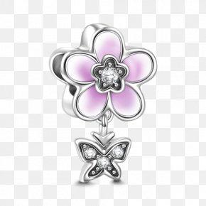 Ten Li Peach Blossom - Earring Charm Bracelet Jewellery Silver PNG