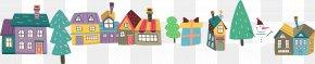 Housing Material Cartoon Christmas Tree - Gratitude Christmas Gift Gratis PNG