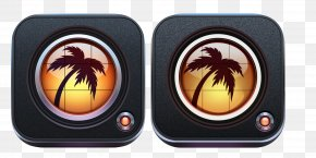Coconut Tree Style Icon - Image Editing Photography Camera Application Software PNG