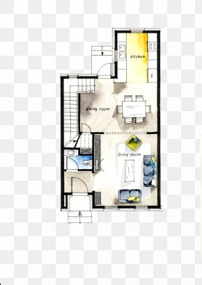 Color Painted Decorative Apartment Plan - Floor Plan Interior Design Services Architecture House PNG