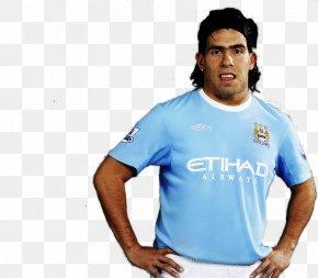 T-shirt - Carlos Tevez T-shirt Manchester City F.C. Shoulder Sleeve PNG