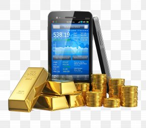 Gold Phone - Gold As An Investment Foreign Exchange Market Trader Bullion PNG