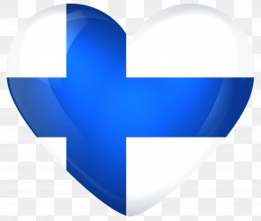 FINLAND - Flag Of Finland Heart National Flag PNG