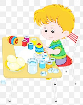 Child Toy - Watercolor Background PNG