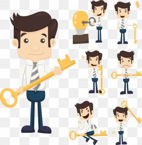 The Keys Of The Vector Character - Shutterstock Clip Art PNG