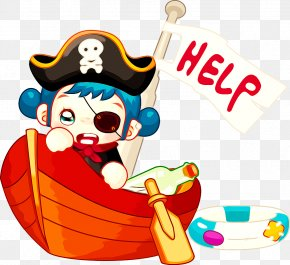 Cartoon Pirate Ship - Piracy Cartoon Drawing PNG