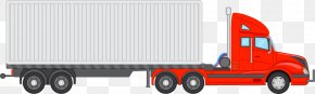 Truck Car Vector Material - Cargo Commercial Vehicle Truck PNG