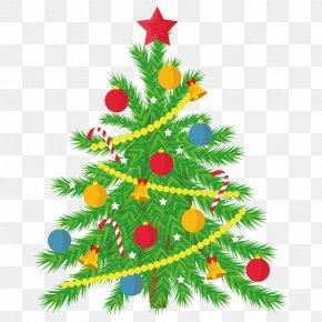 Christmas Tree Wallpaper - Christmas Tree Santa Claus Christmas Day Vector Graphics Holiday PNG