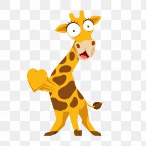 Giraffe - Giraffe Cat Terrestrial Animal Tail Clip Art PNG