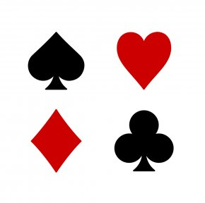 Heart Playing Cards - Playing Card Suit Set Euchre Clip Art PNG