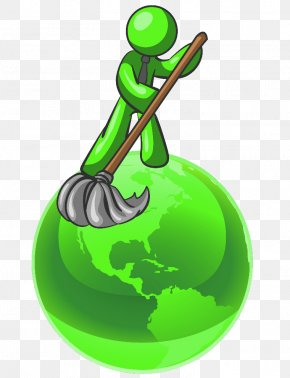 Green Cleaning Cliparts - Cleaner Green Cleaning Mop Clip Art PNG