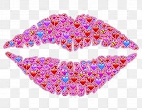 Heart-shaped Lips - Lip Kiss Clip Art PNG
