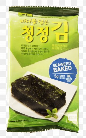 Seaweed - Laver Nori Gim Snack Packaging And Labeling PNG