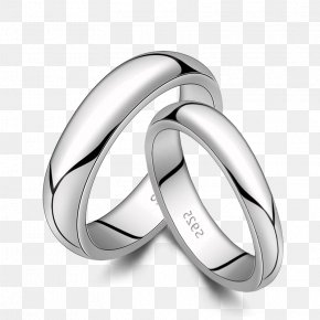 Jewelry - Earring Sterling Silver Wedding Ring PNG