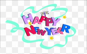 Happy New Year - New Year Typeface Download PNG