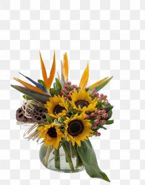 Sunflower Flower Vase Home Decoration - Monroe Port Huron Floristry Flower Angelones Florist PNG