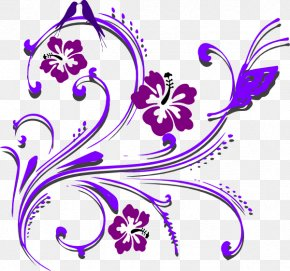 Purple Wedding Cliparts - Butterfly Flower Violet Clip Art PNG