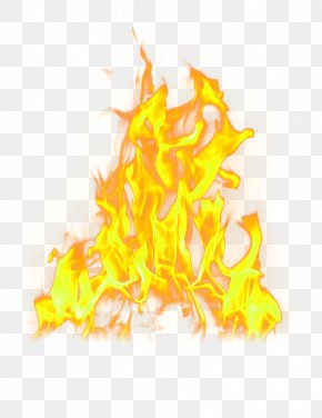 Yellow Simple Flame Effect Element - Fire Flame Light PNG