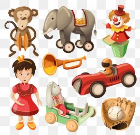 Cartoon Animals And Children PNG