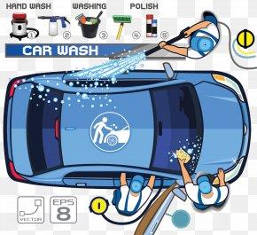 Car Wash Beauty Work Workshop - Car Wash Motor Vehicle Service Illustration PNG