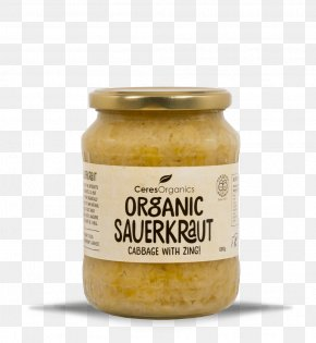 Organic Food Supermarkets - Organic Food Vegetarian Cuisine Sauce Ceres Organics Organic Sauerkraut PNG