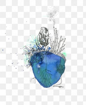 Heart - Watercolor Painting Ink Heart Illustration PNG
