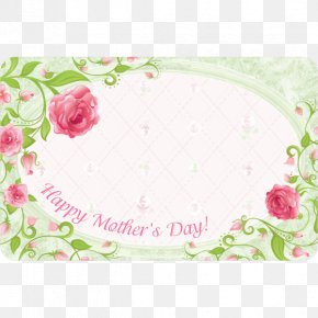 Mother's Day - Mother's Day Garden Roses Greeting & Note Cards Clip Art PNG