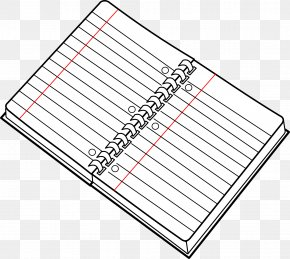 Stripe Notebook - Notebook Paper Black And White Clip Art PNG