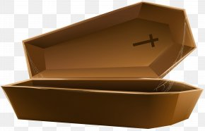 Open Coffin Brown Transparent Clip Art Image - Coffin Halloween Clip Art PNG
