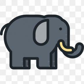 Black Elephant - Indian Elephant Icon PNG